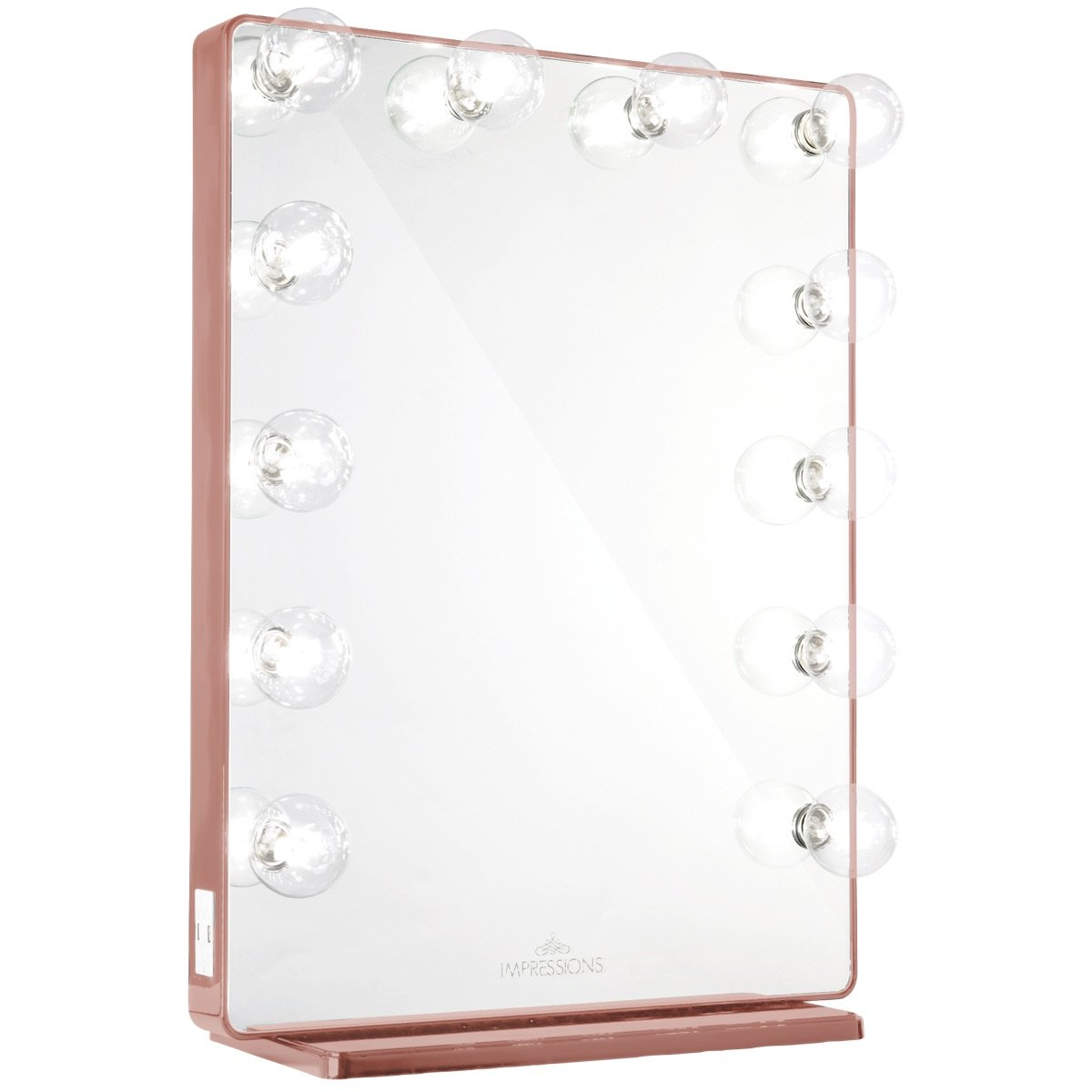 Rose Gold Vanity Mirror w/ Clear LED Light Bulbs
