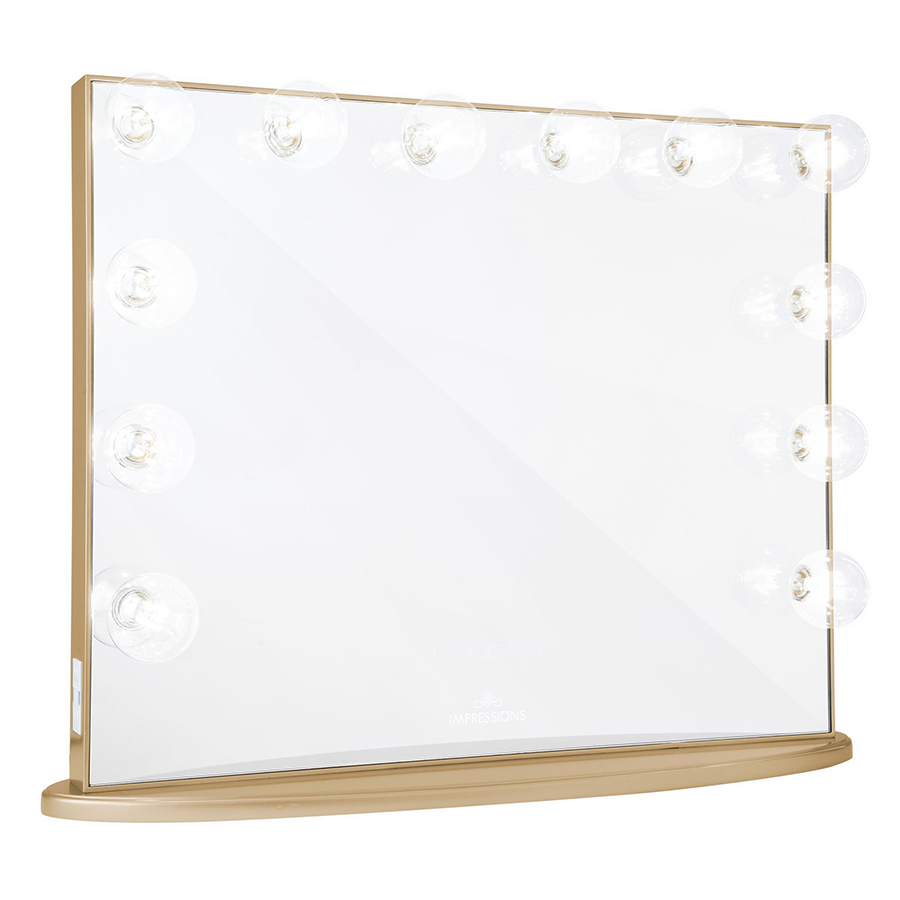 Champagne Gold Hollywood Glow® Plus Vanity Mirror