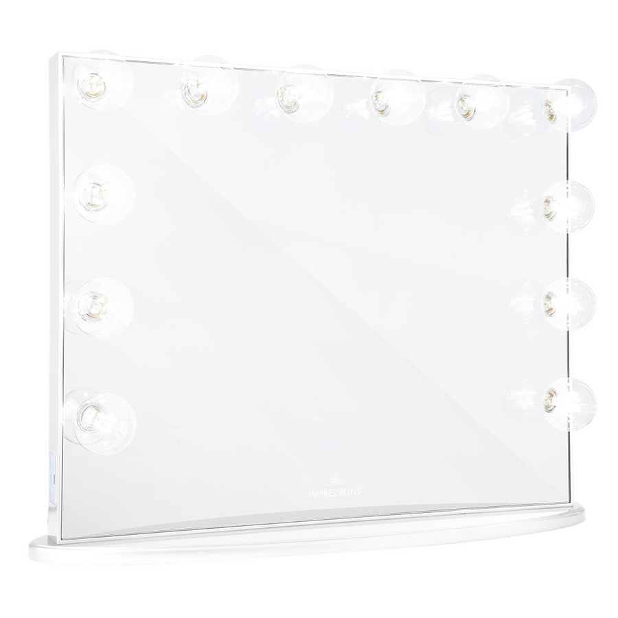 White Hollywood Glow® Plus Vanity Mirror