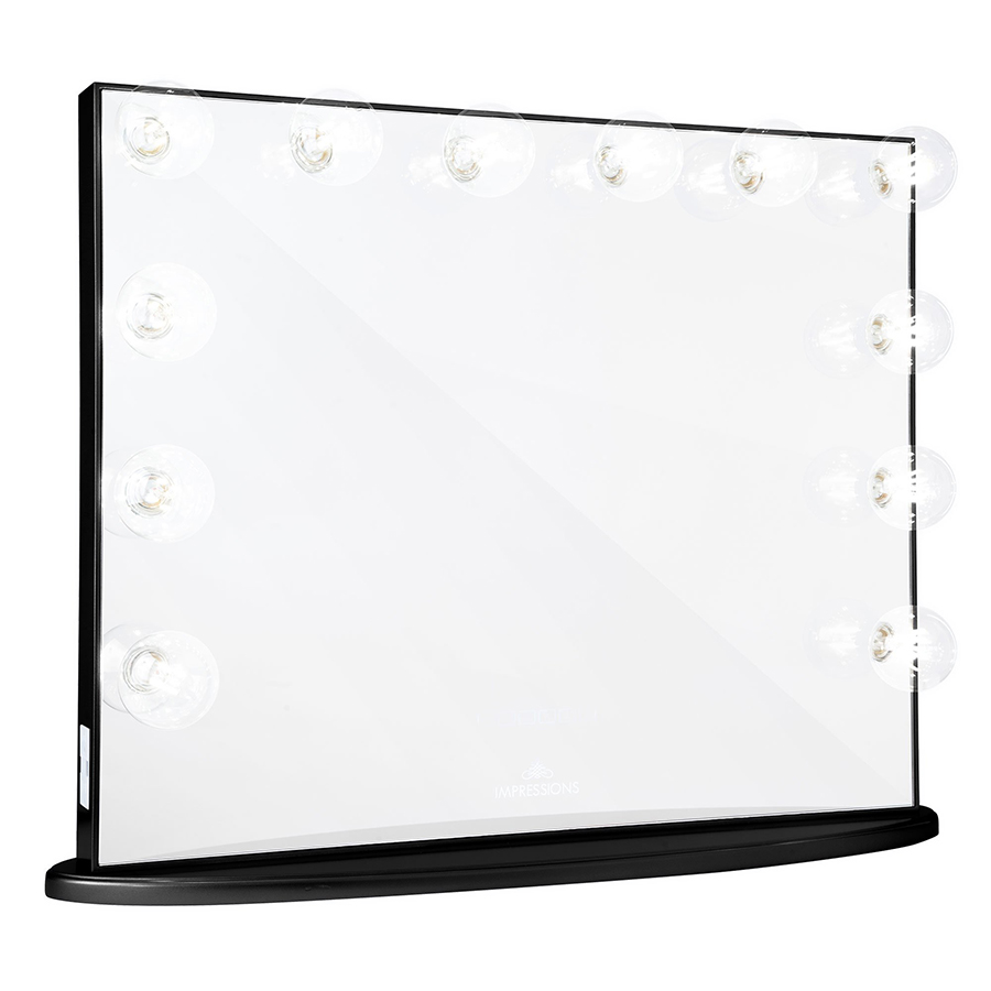 Black Hollywood Glow® Plus Vanity Mirror