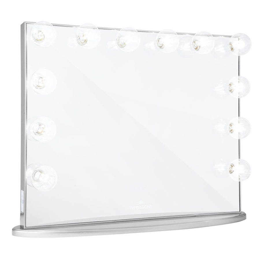 Silver Hollywood Glow® Plus Vanity Mirror