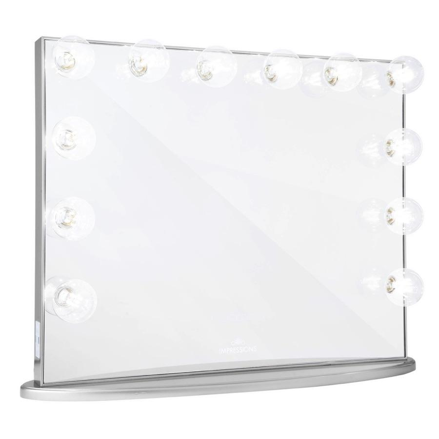 Silver Vanity Mirror