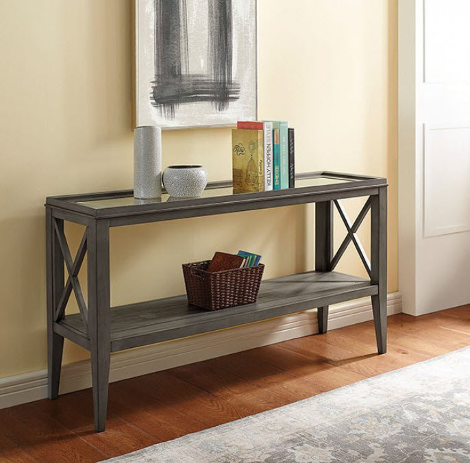 Gray Sofa Table