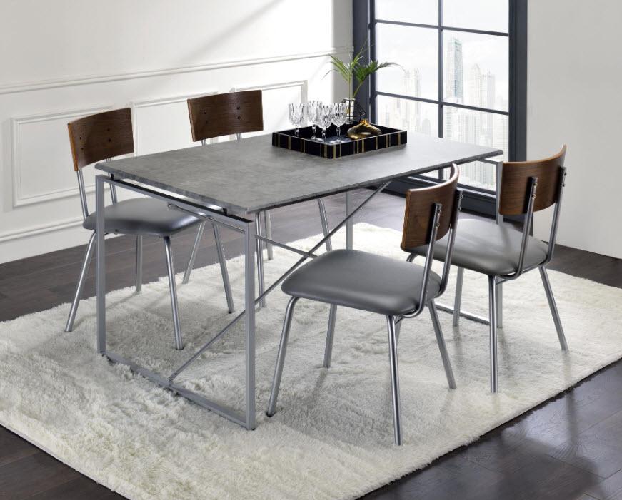 Faux Concrete & Silver Complete Set