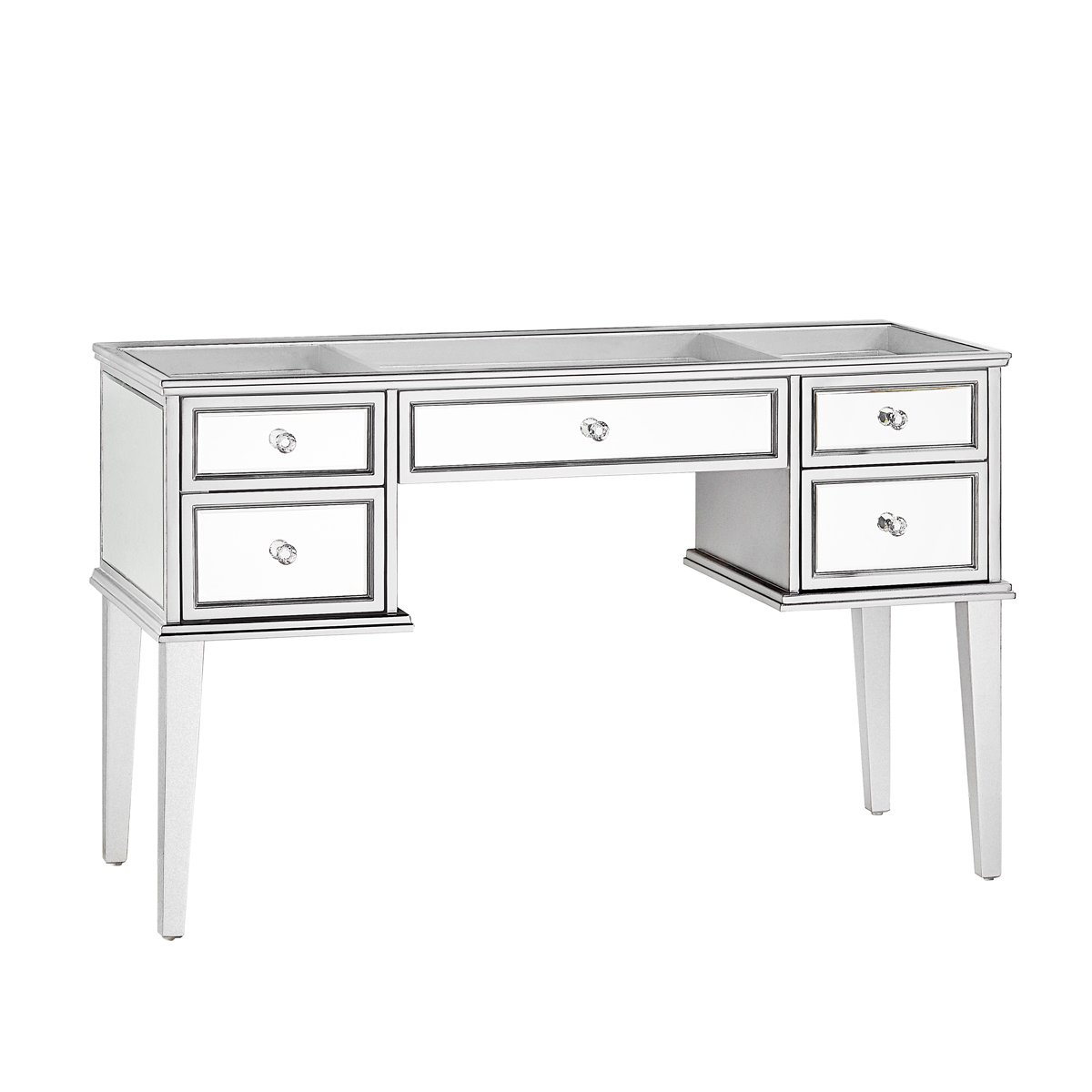 Silver Mirrored Vanity Table