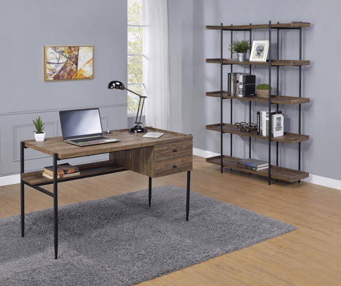 Desk W/Large Book Shelf