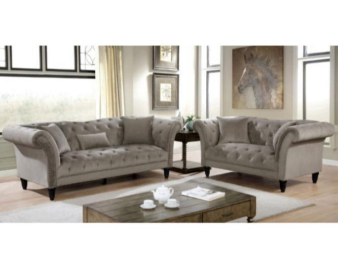 Gray Sofa & Loveseat