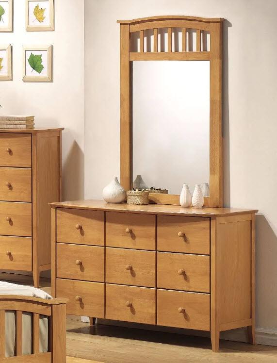 Maple Dresser W/Mirror