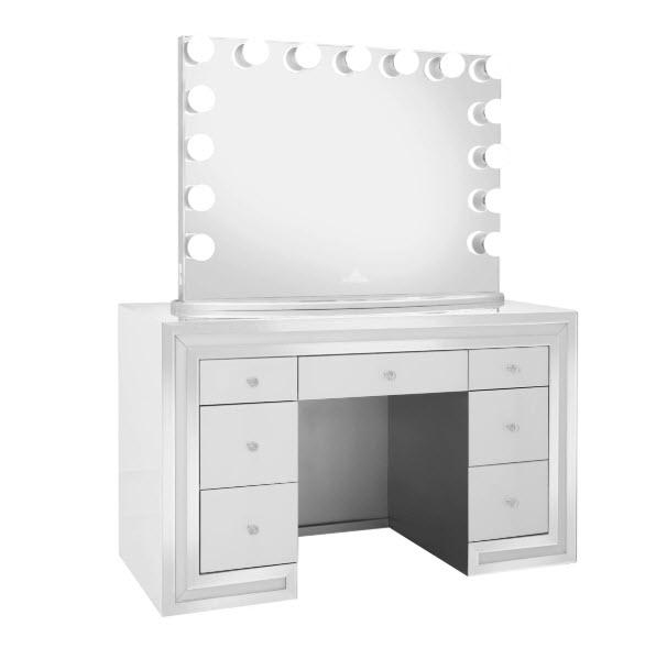 White W/Pro Mirror