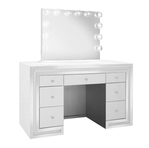 White W/Plus Mirror