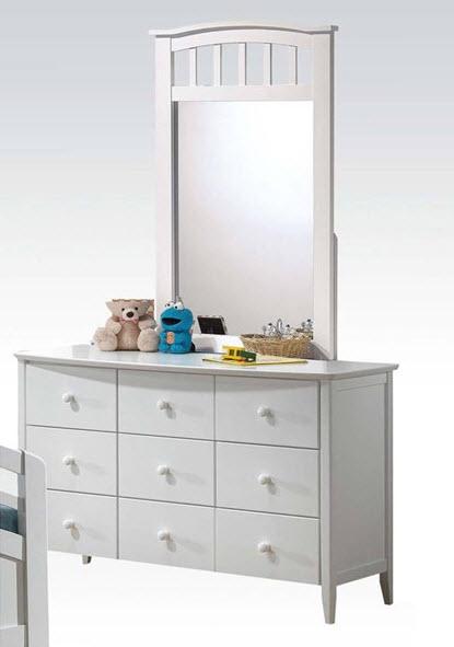 White Dresser W//Mirror