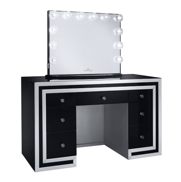 Black W/Plus Mirror