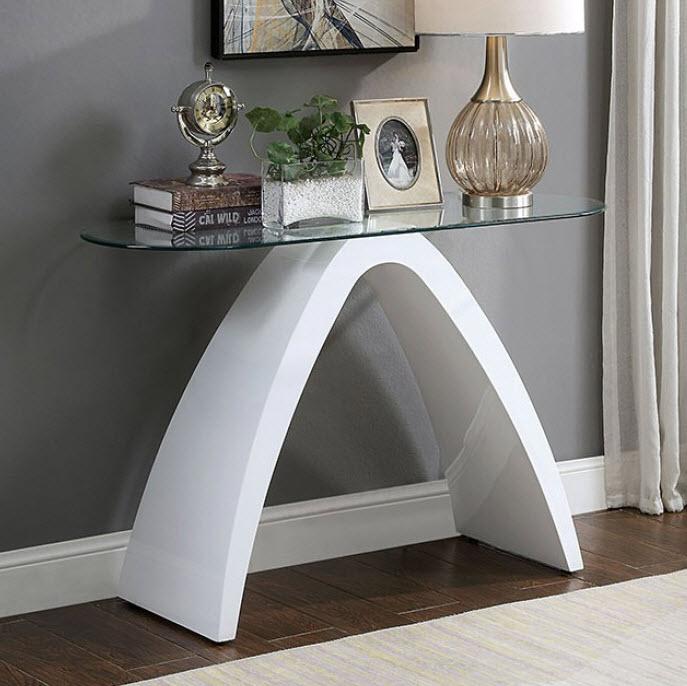 White Sofa Table