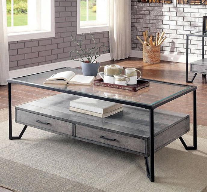Ponderay Metal Frame Coffee Table