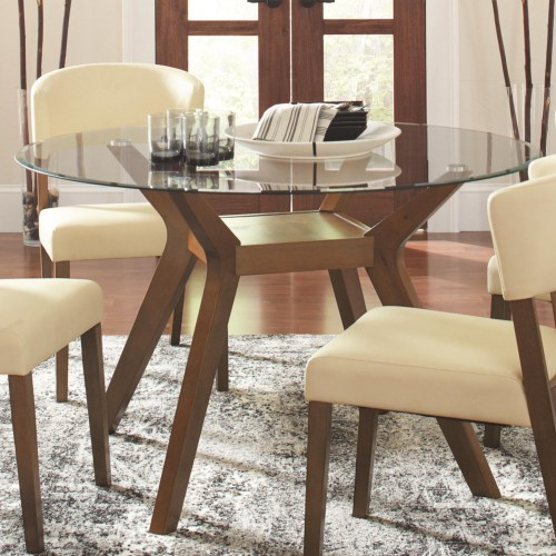 Paxton Round Glass Dining Table Base