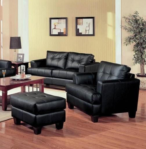 Black Chair & Ottoman