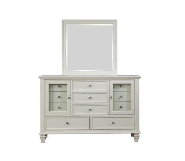 White Dresser W/Mirror