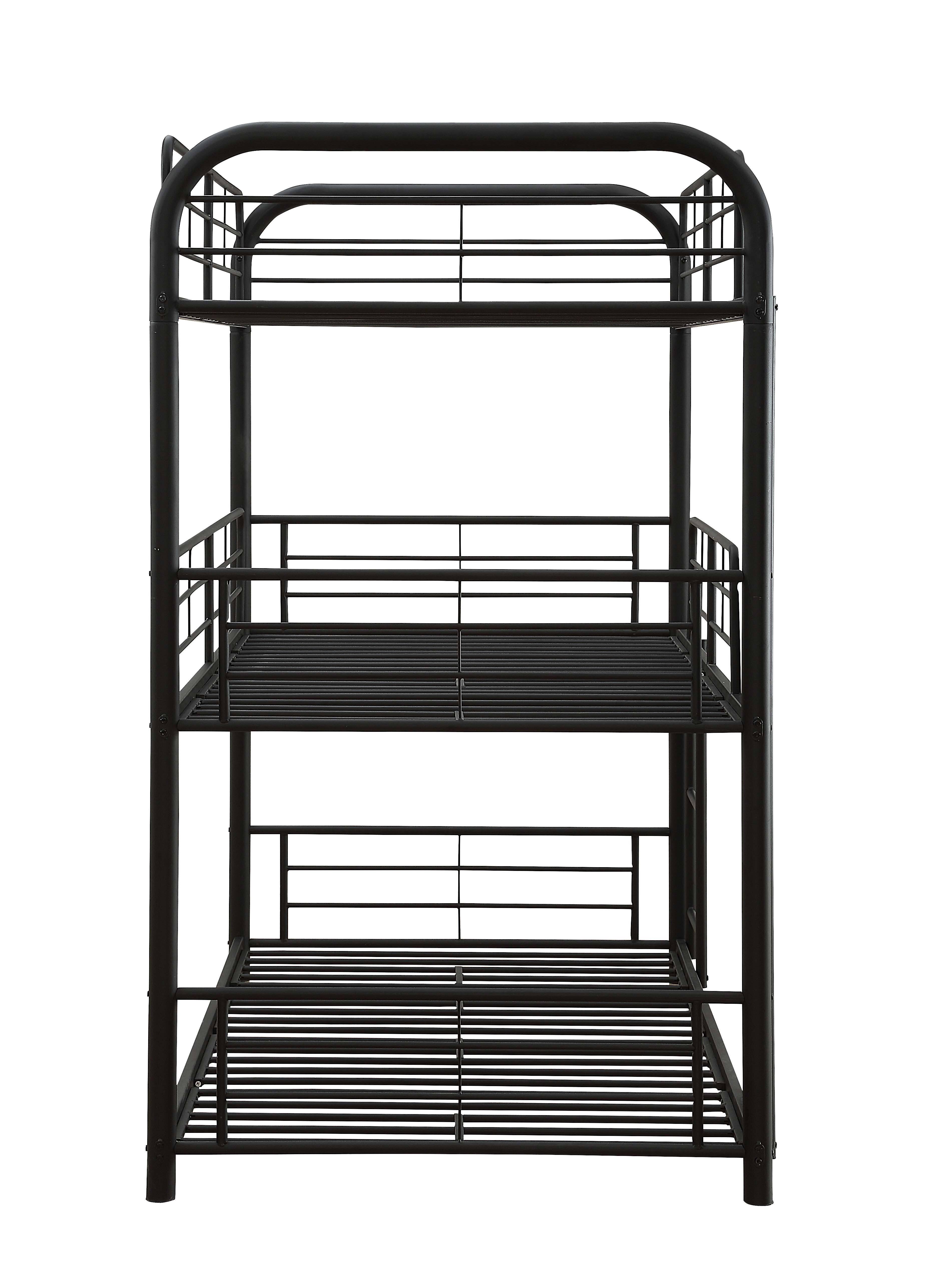 Three Layer Bunk Bed Frame Side