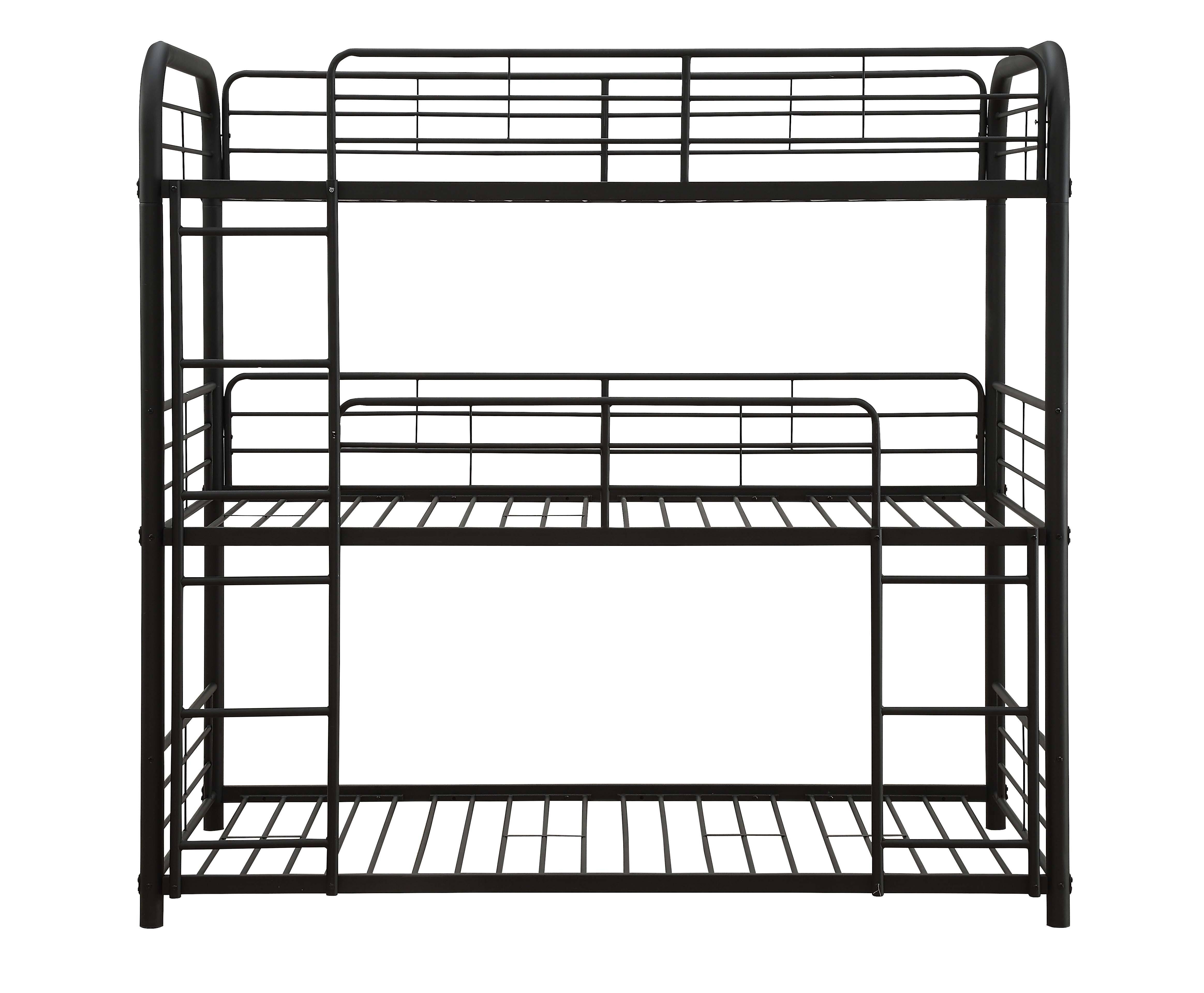 Three Layer Bunk Bed Frame Front