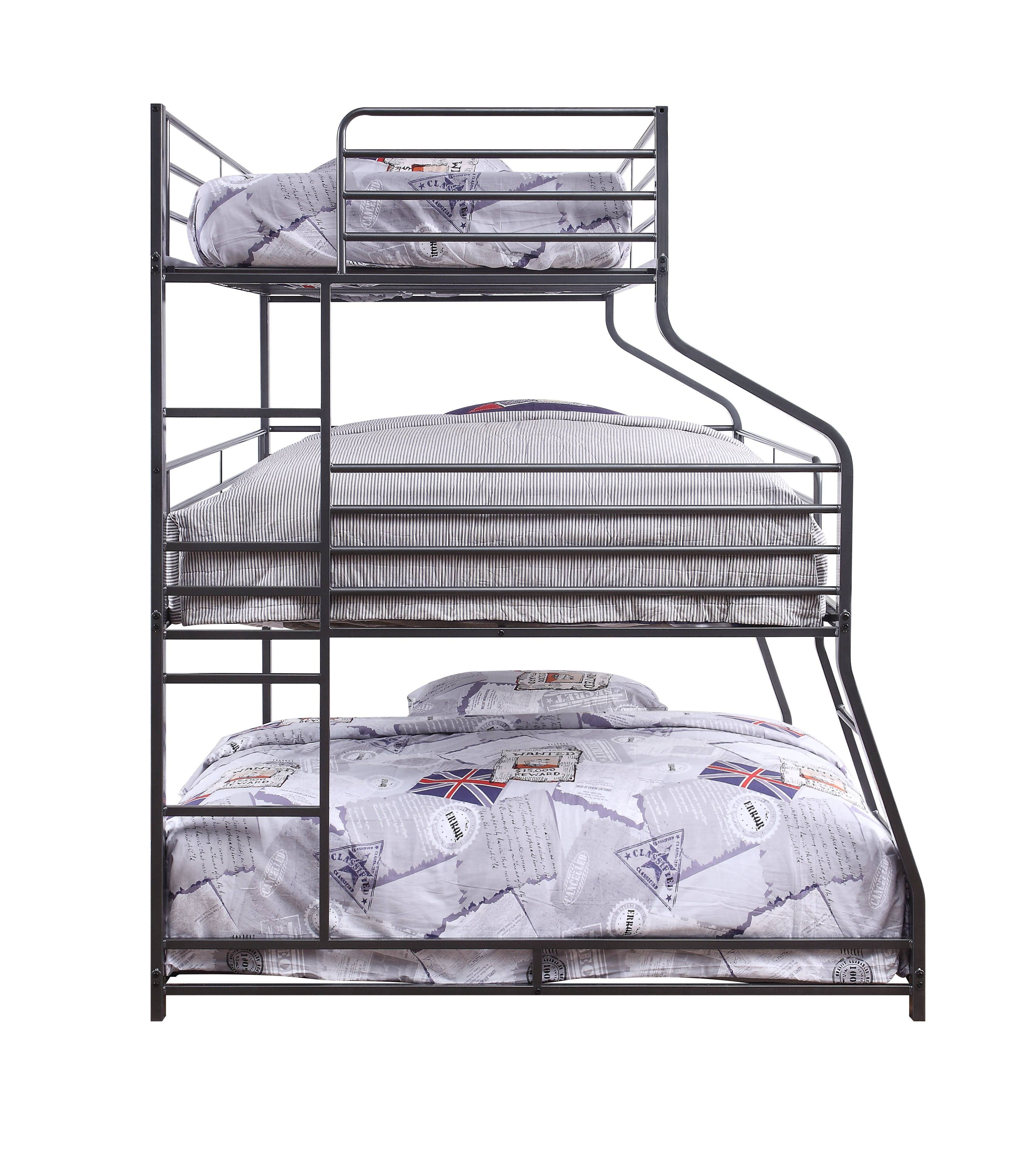Three Layer Bunk Bed Side
