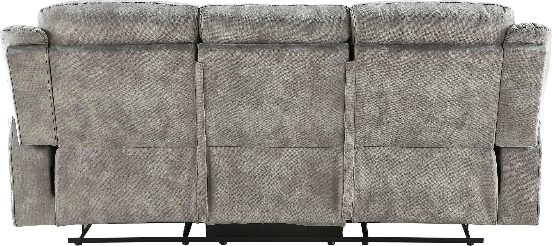 Two Tone Gray Reclining Sofa Back