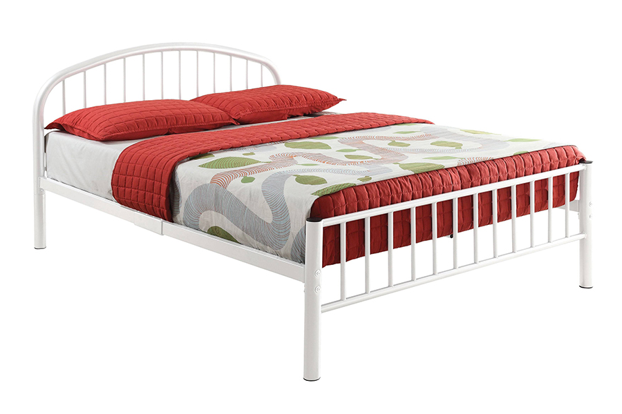 White Metal Frame Bed