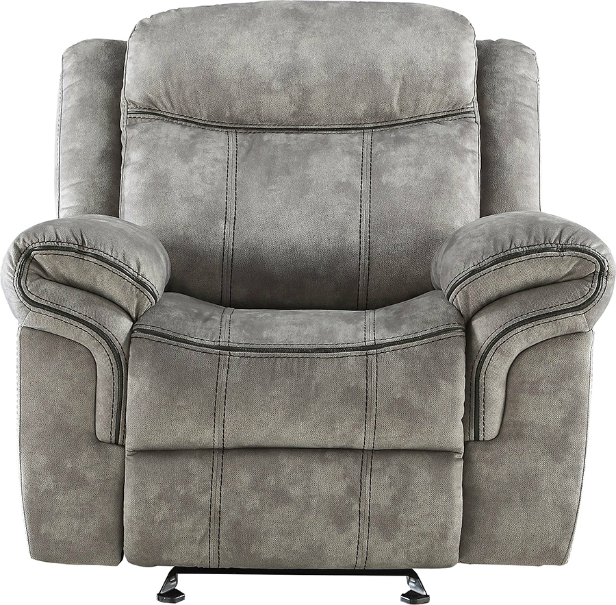 Two Tone Gray Glider Recliner Front