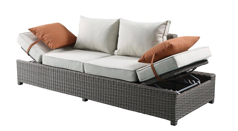 Sofa w/ Lift Top Armrests Angle