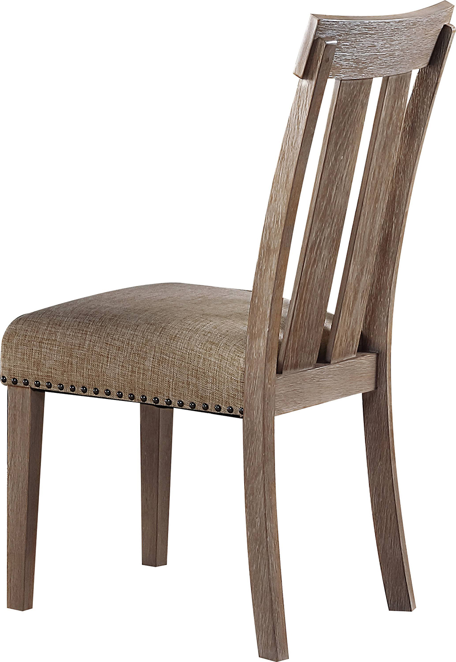 Slatted Back Side Chair Back Angle