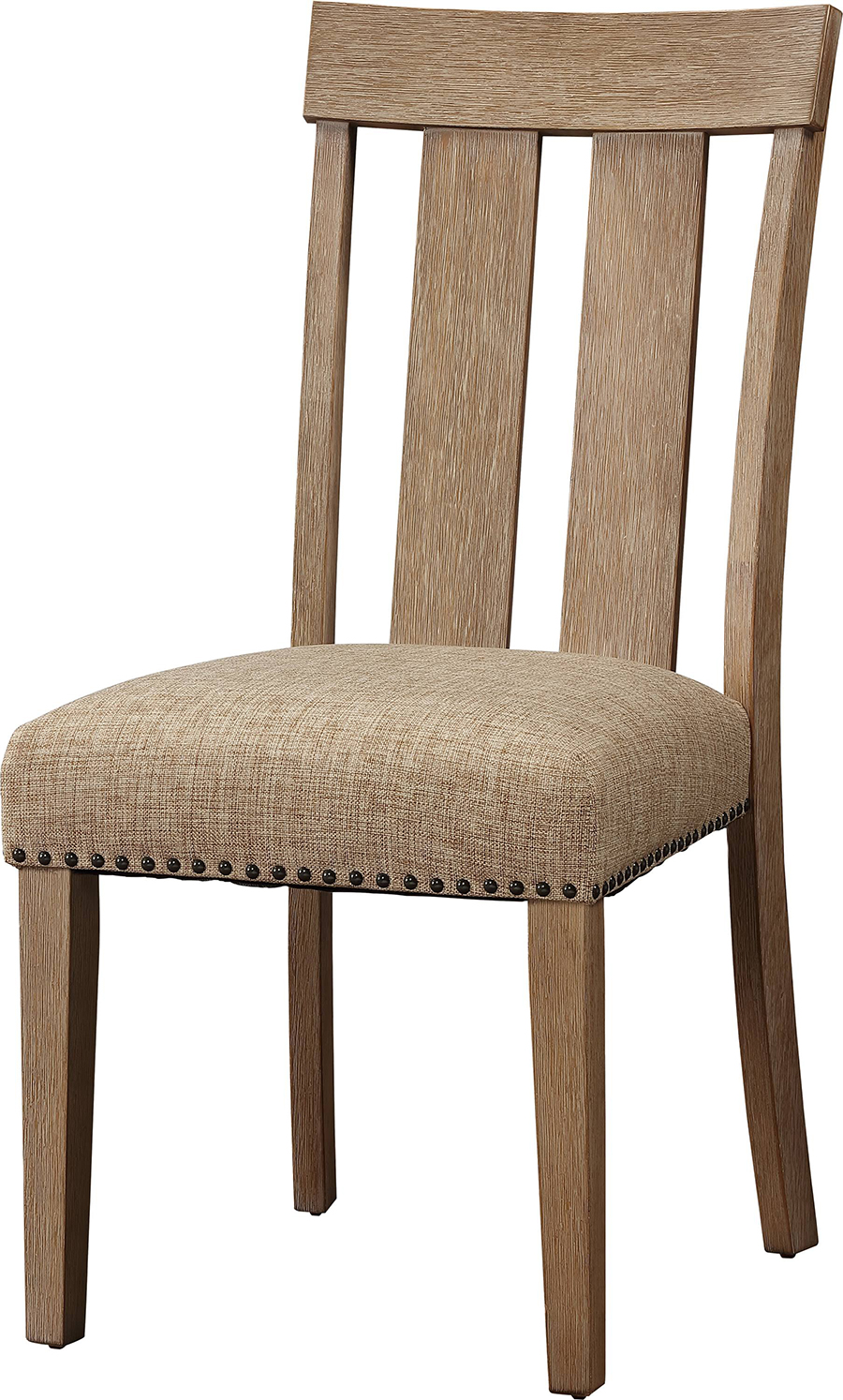 Slatted Back Side Chair Front Angle