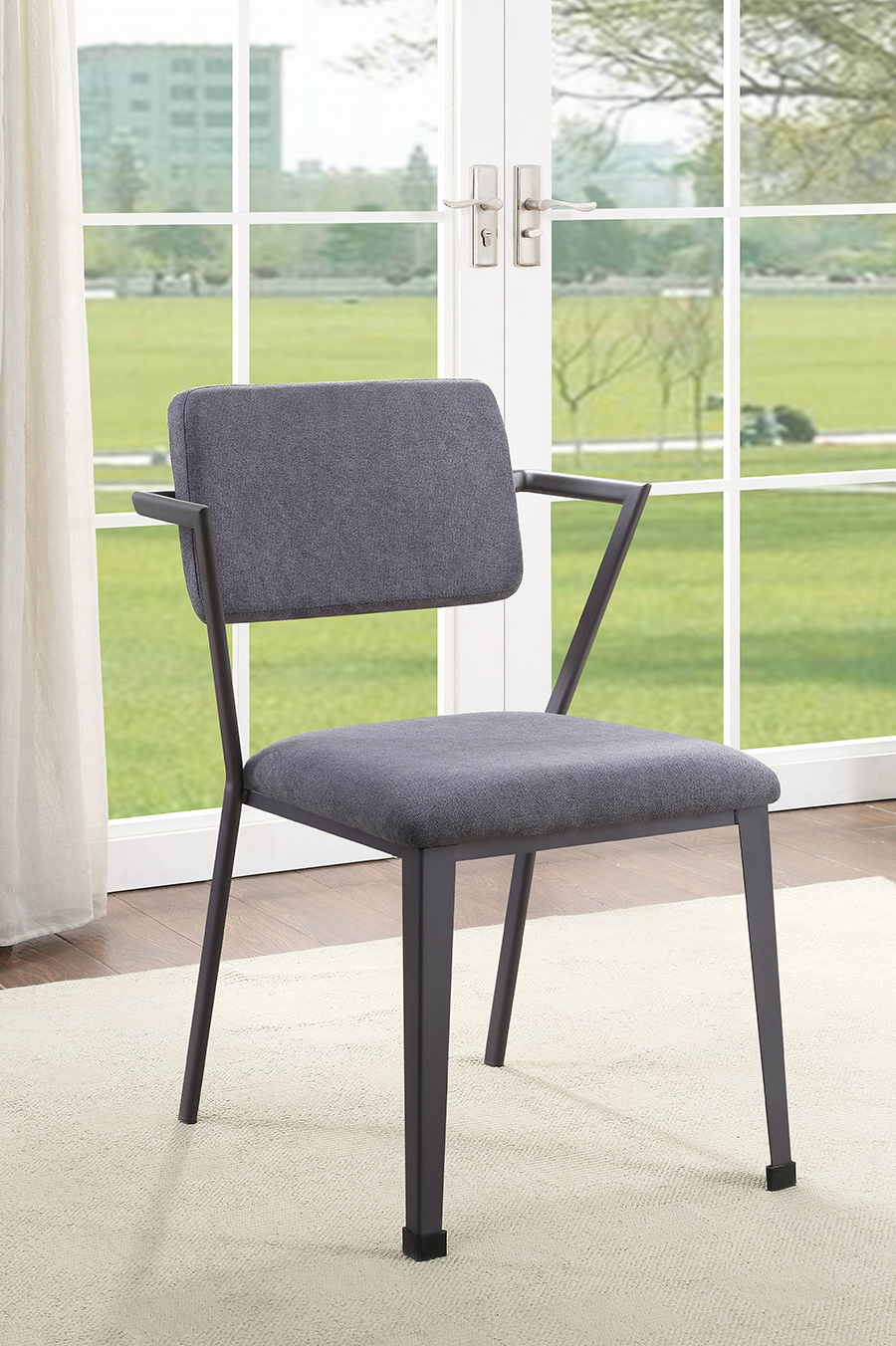 Gunmetal Arm Chair