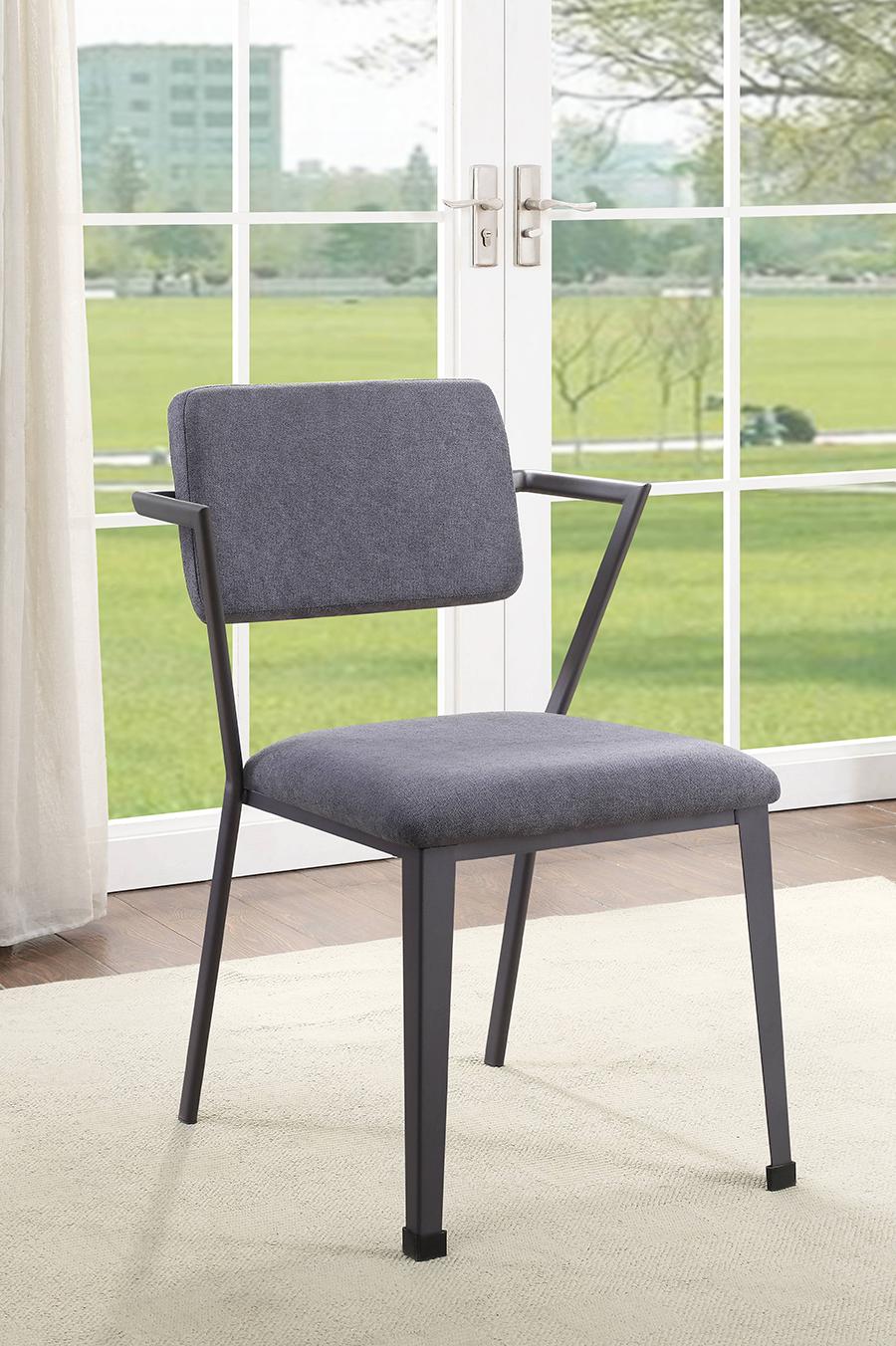 Gunmetal Arm Chair
