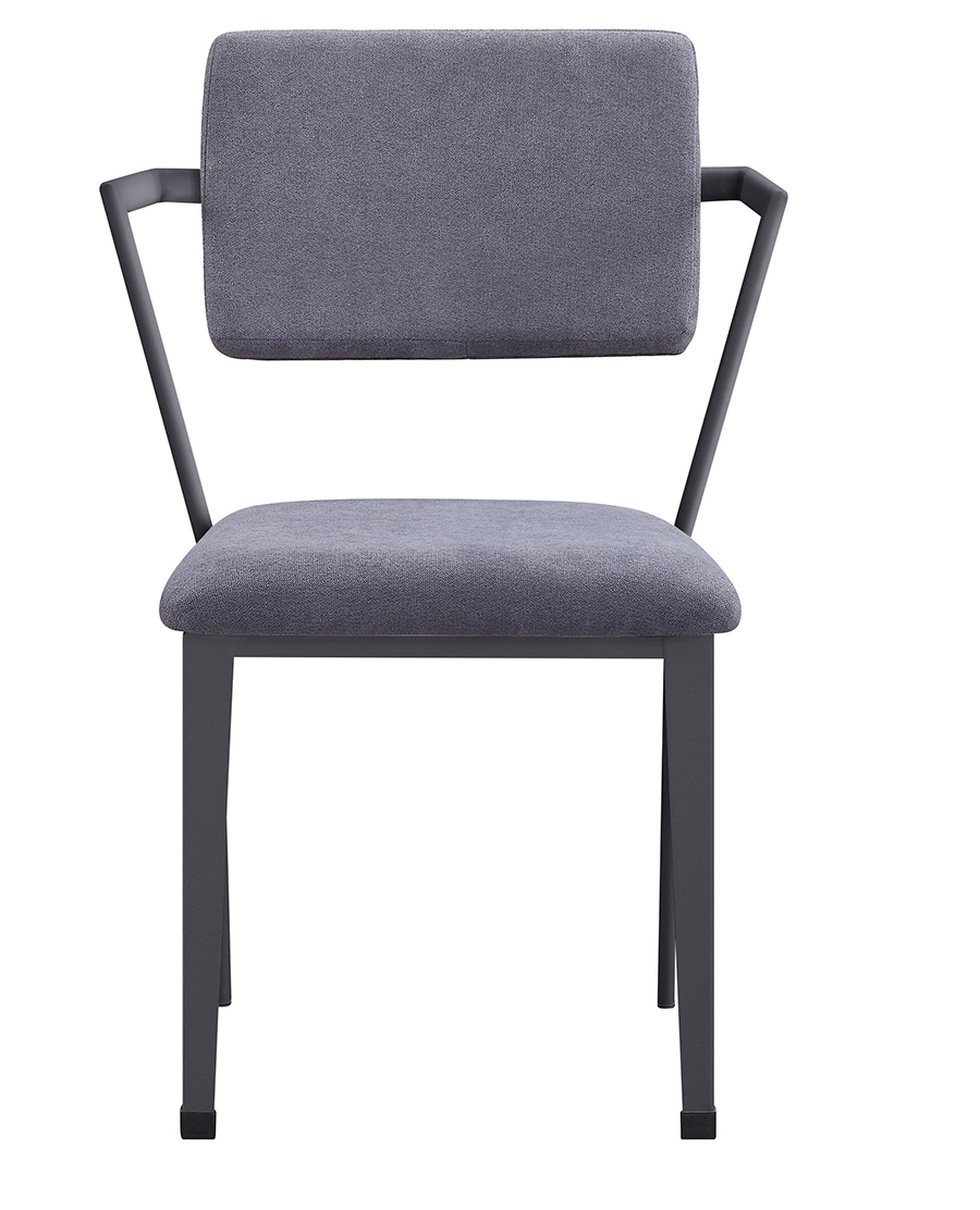 Gunmetal Arm Chair Front