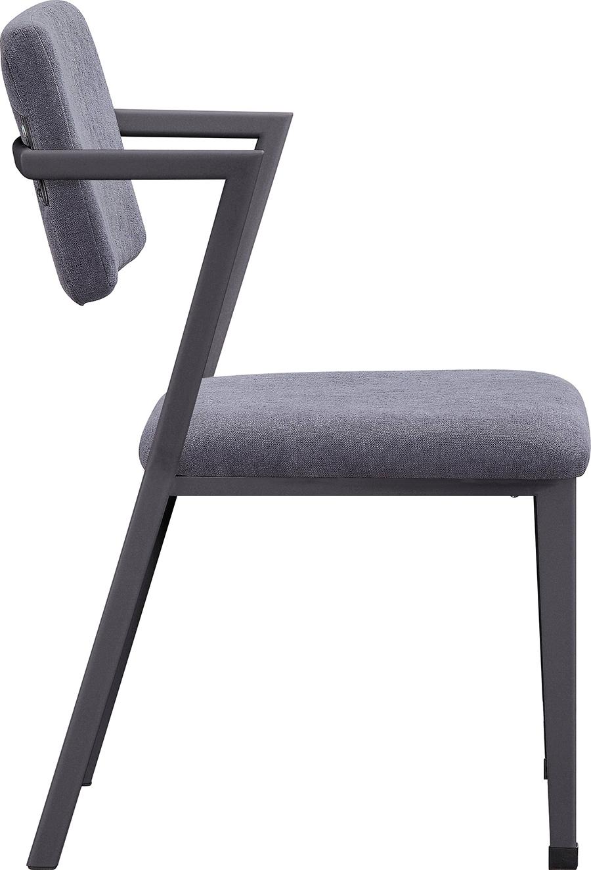 Gunmetal Arm Chair Side