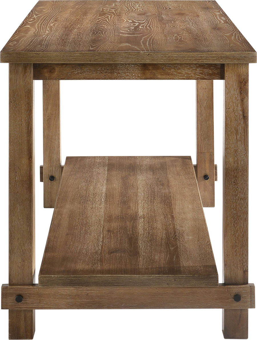 Weathered Oak Counter Height Table Front