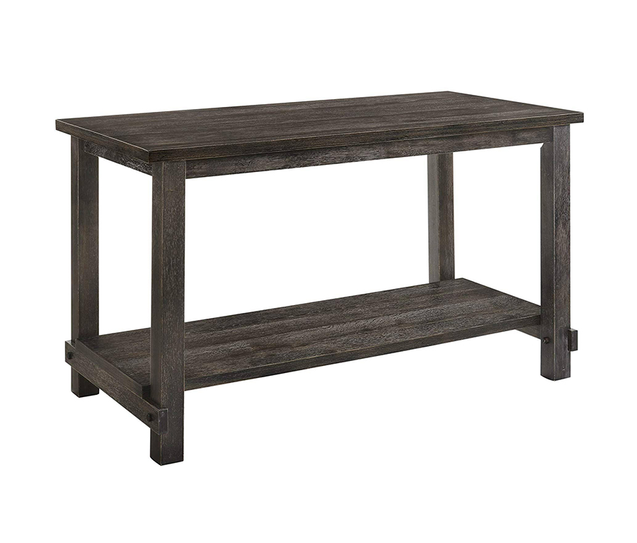 Weathered Gray Counter Height Table Angle