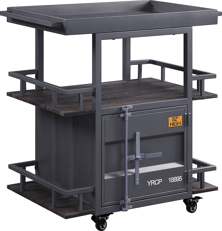 Gunmetal Serving Cart Angle