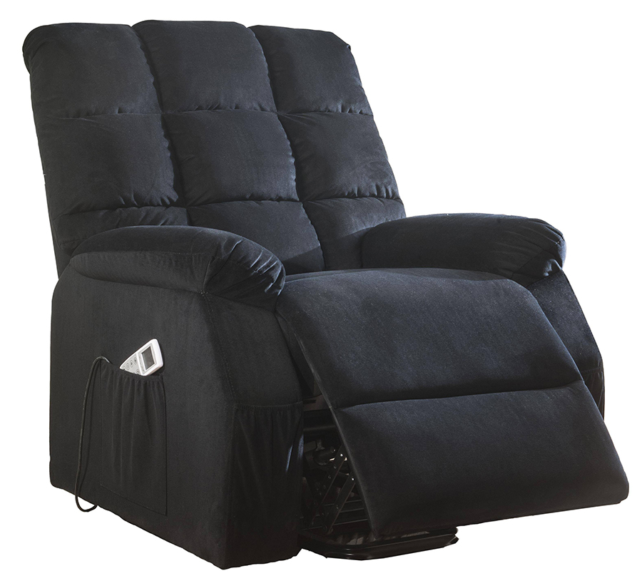 Black Power Lift Recliner Angle