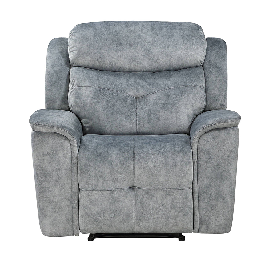 Silver Gray Fabric Recliner Front