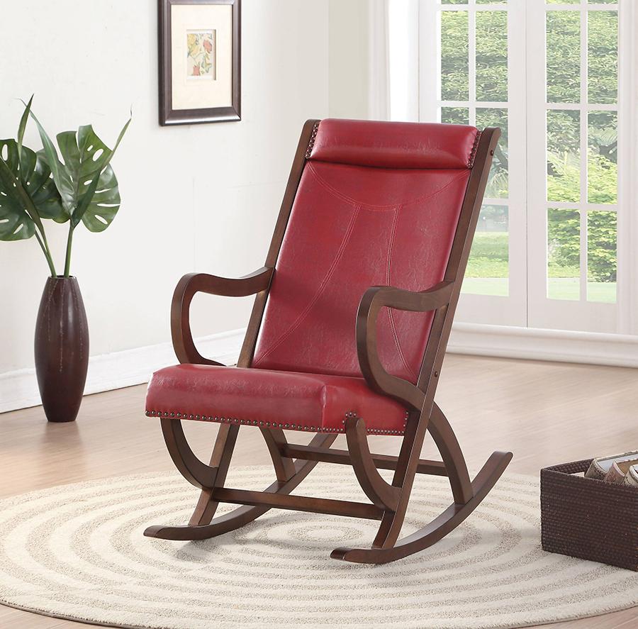 Burgundy Rocking Chair