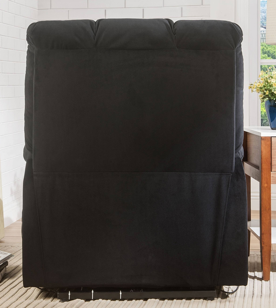 Black Power Lift Recliner Back