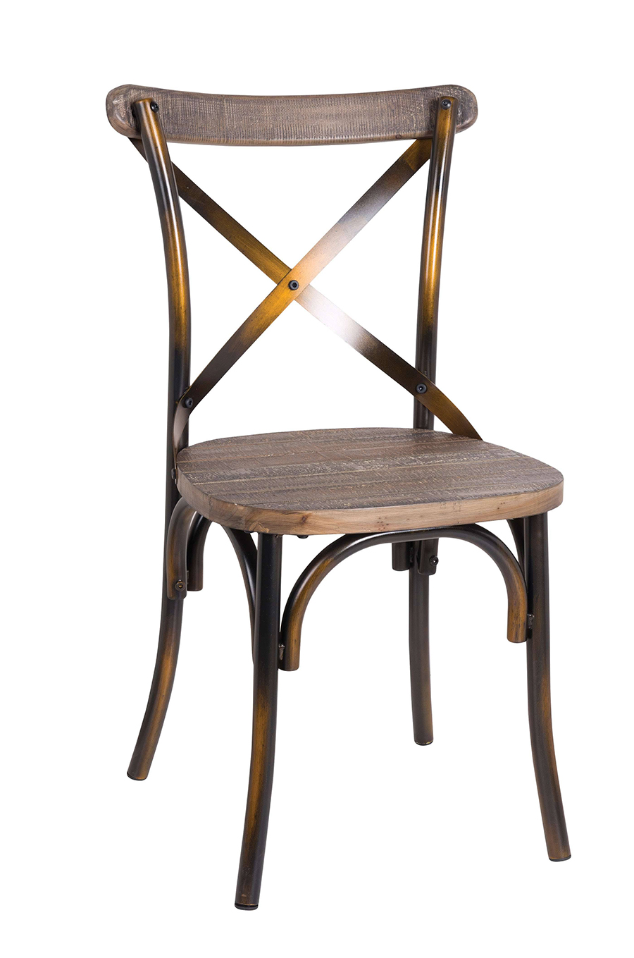 Antique Copper Side Chair Angle