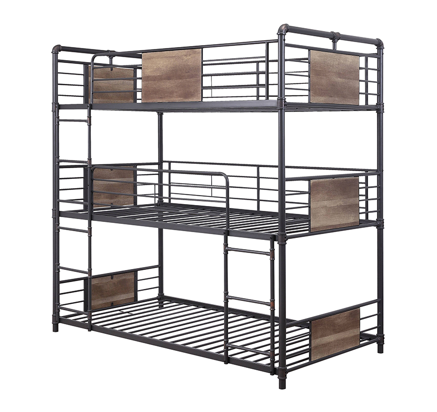 Triple Twin Bunk Bed Frame