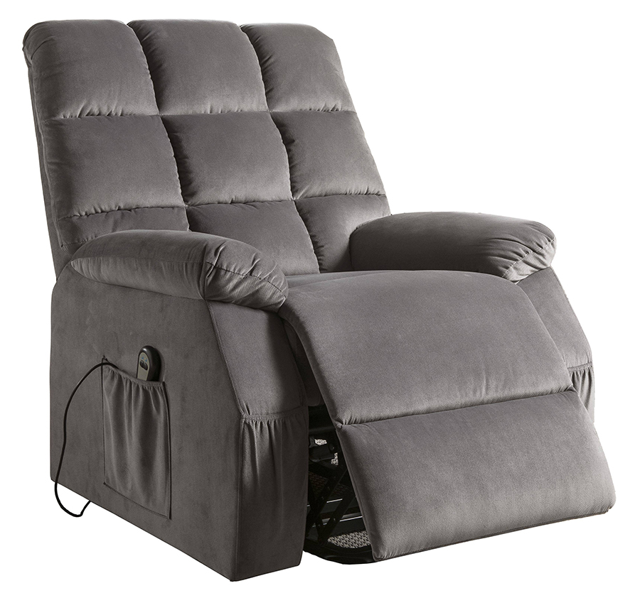 Gray Power Lift Recliner Angle