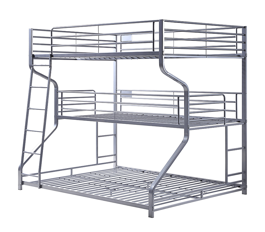 Silver Triple Bunk Bed Frame