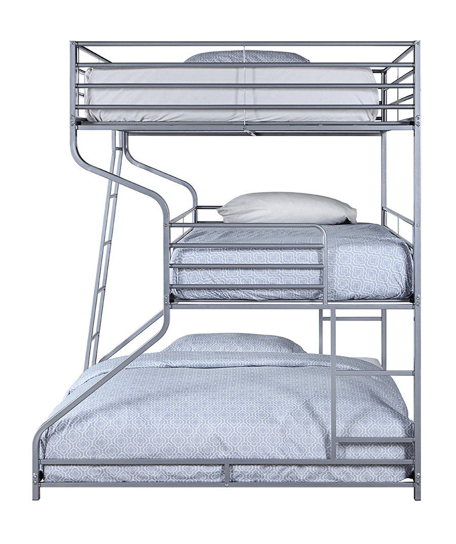 Silver Triple Bunk Bed Side