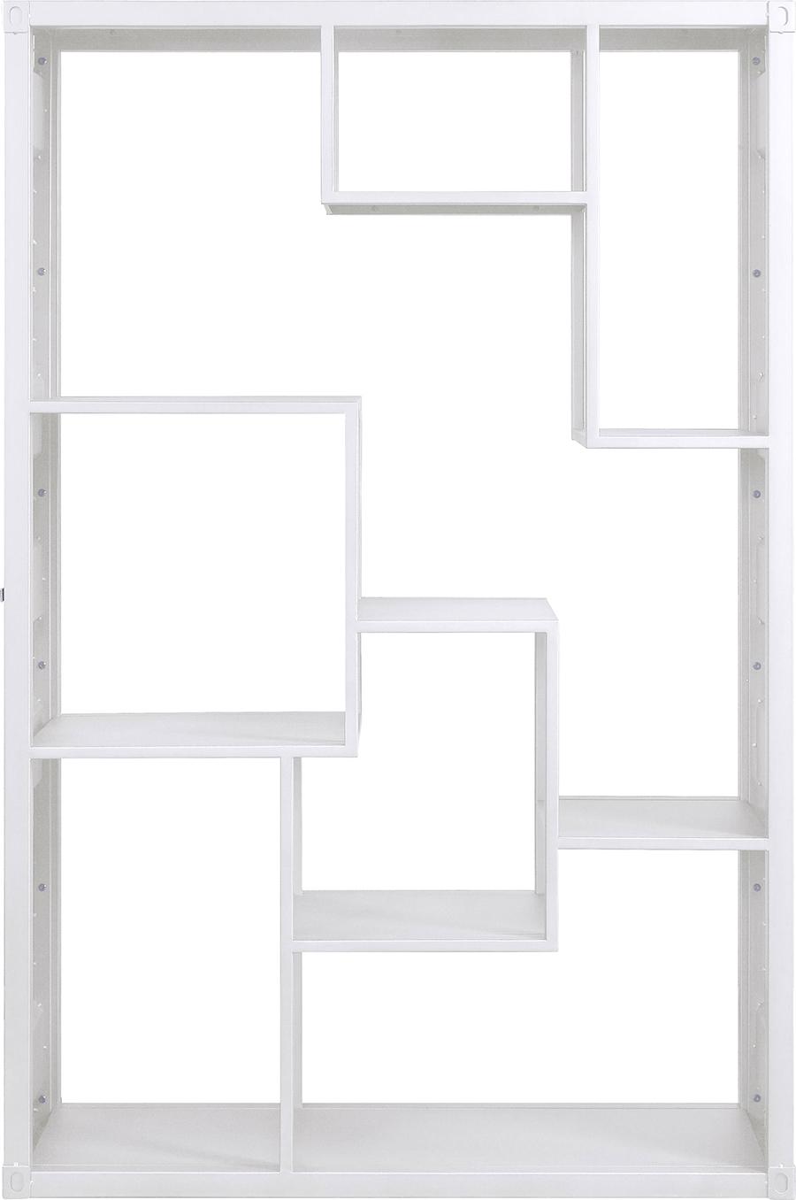 White Shelf Rack Front