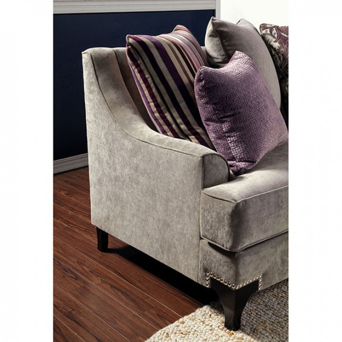 Vintage Taupe Included Pillows