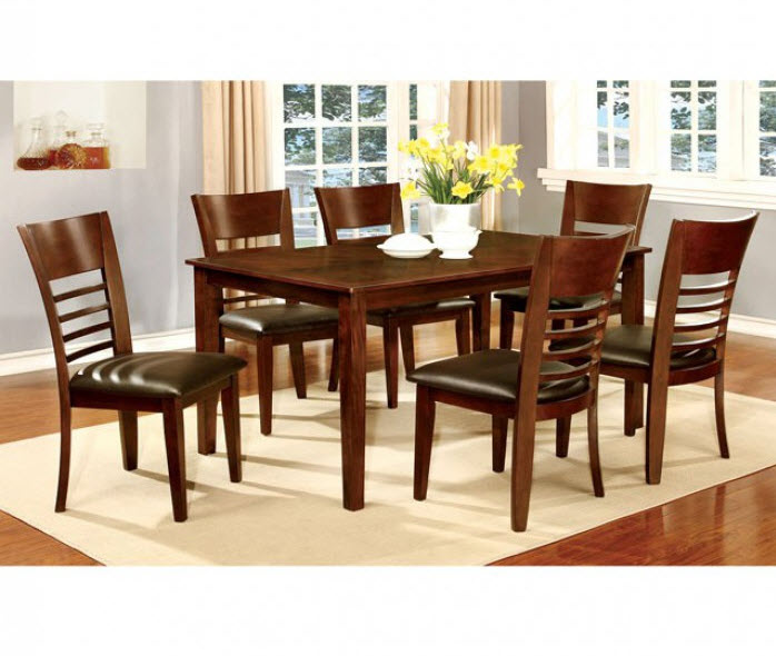 Brown Cherry Table W/Chairs & Server