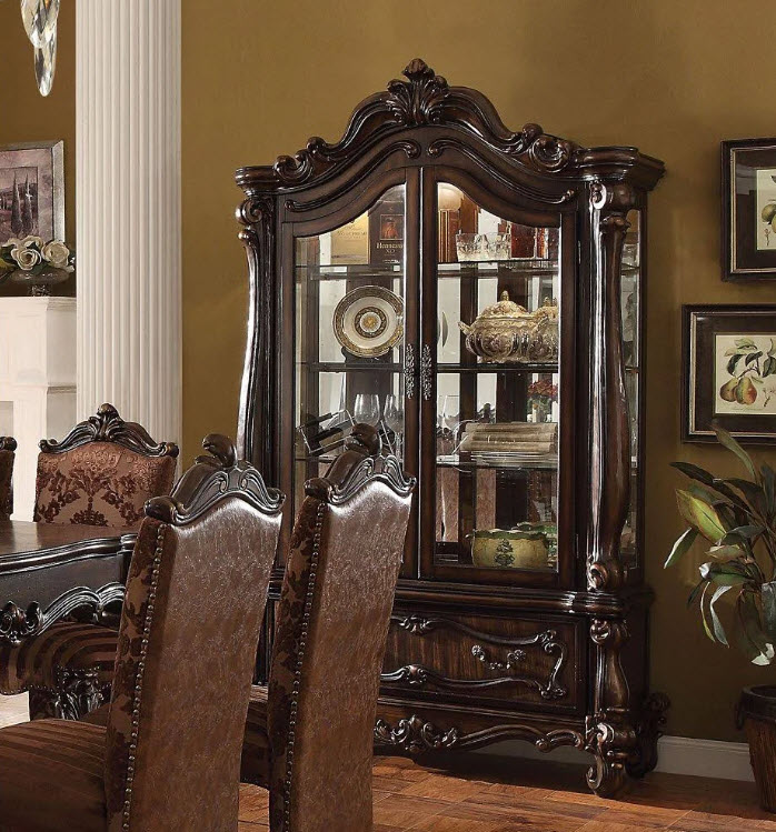 Cherry Oak Curio Cabinet